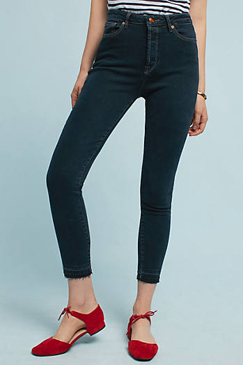 DL1961 Chrissy Ultra High-Rise Skinny Cropped Jeans