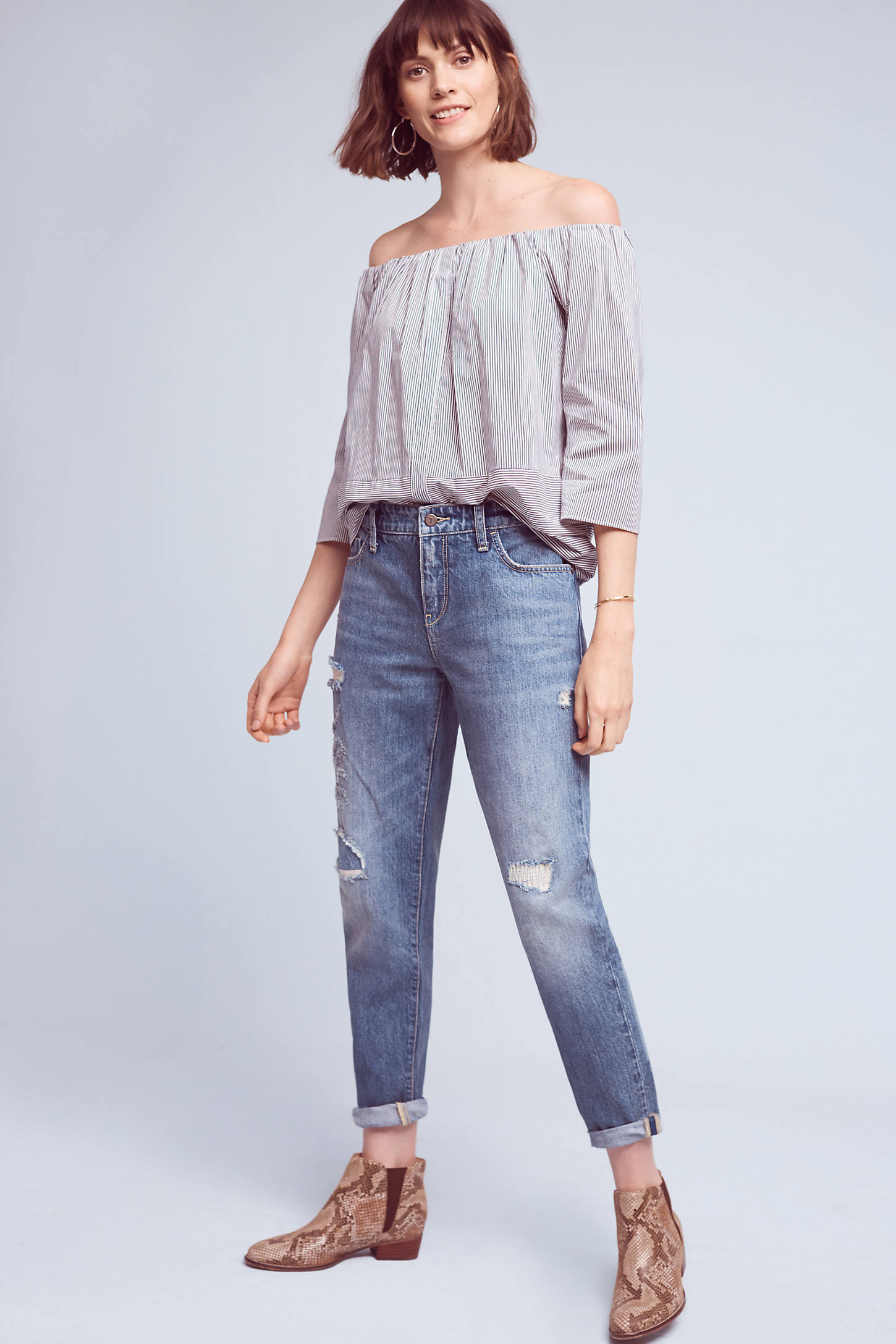 Pilcro High-Rise Relaxed Boyfriend Jeans
