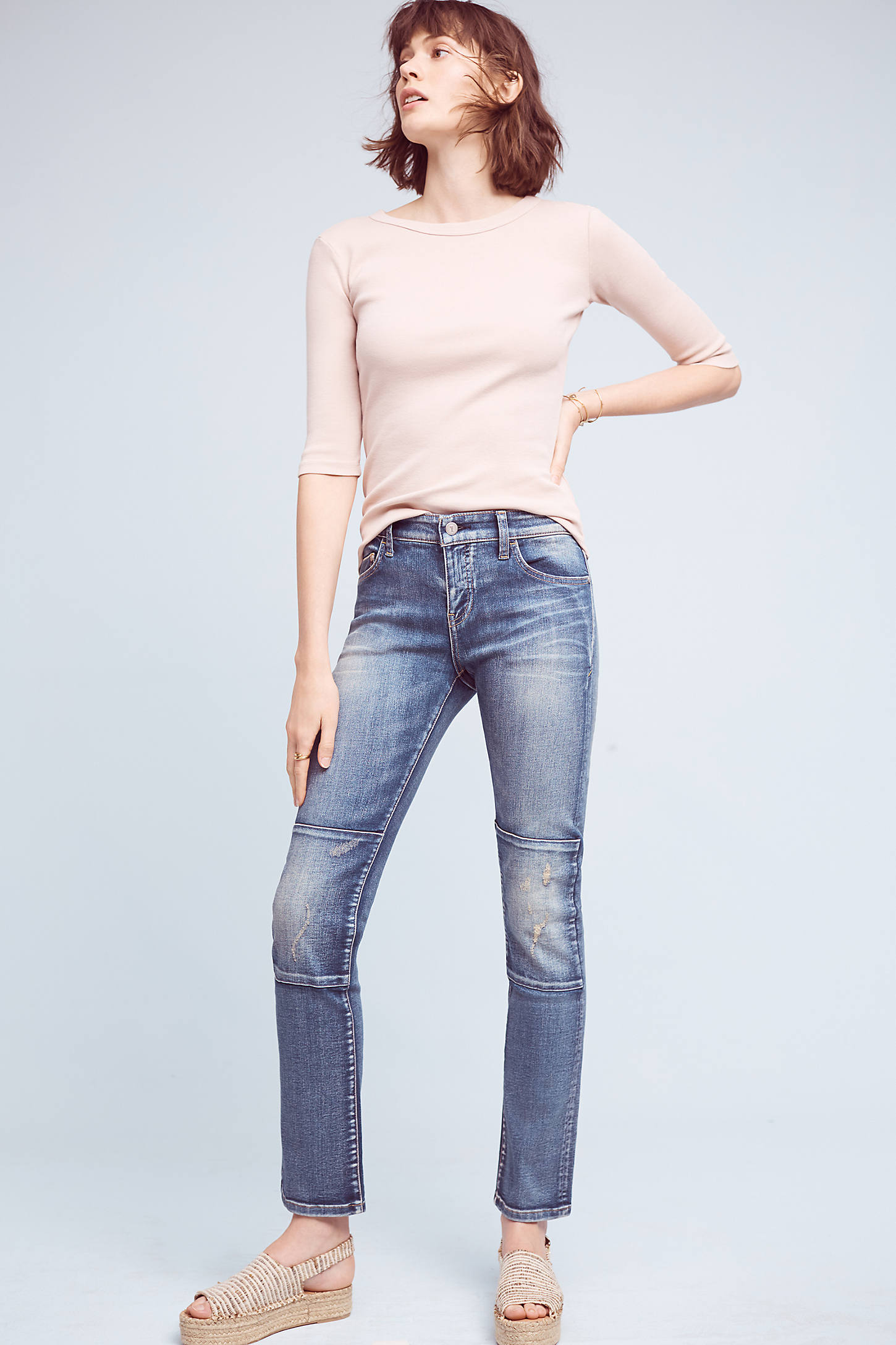 Pilcro Parallel Mid-Rise Straight Jeans