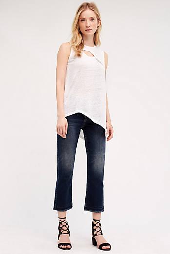 Pilcro Script High-Rise Crop Flare Jeans