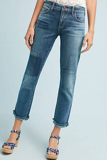 Pilcro Mid-Rise Slim Boyfriend Cropped Jeans