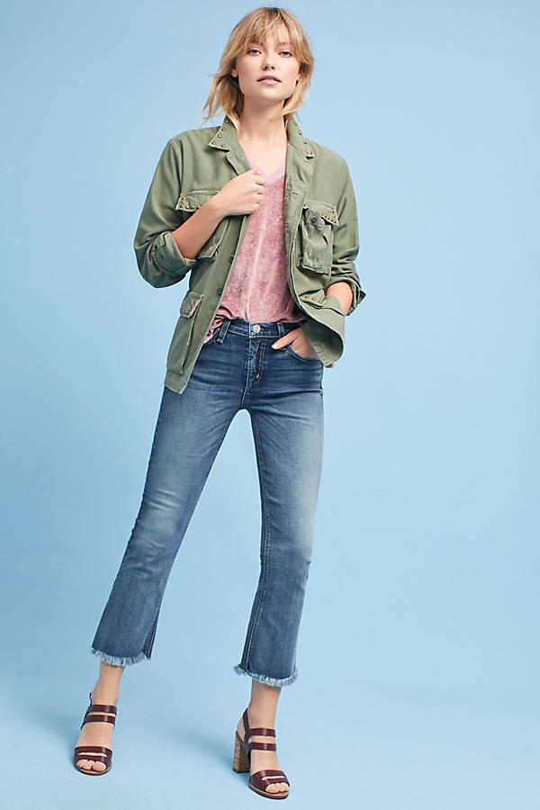McGuire Arbus High-Rise Cropped Flare Jeans