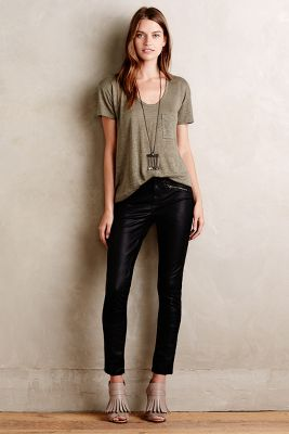 Pilcro Vegan Leather Moto Pants
