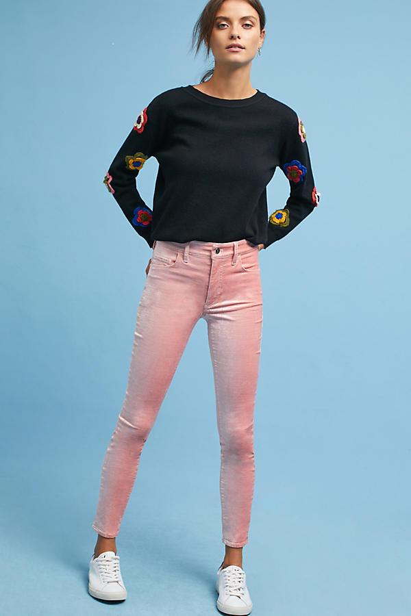 Pilcro Mid-Rise Skinny Velvet Jeans