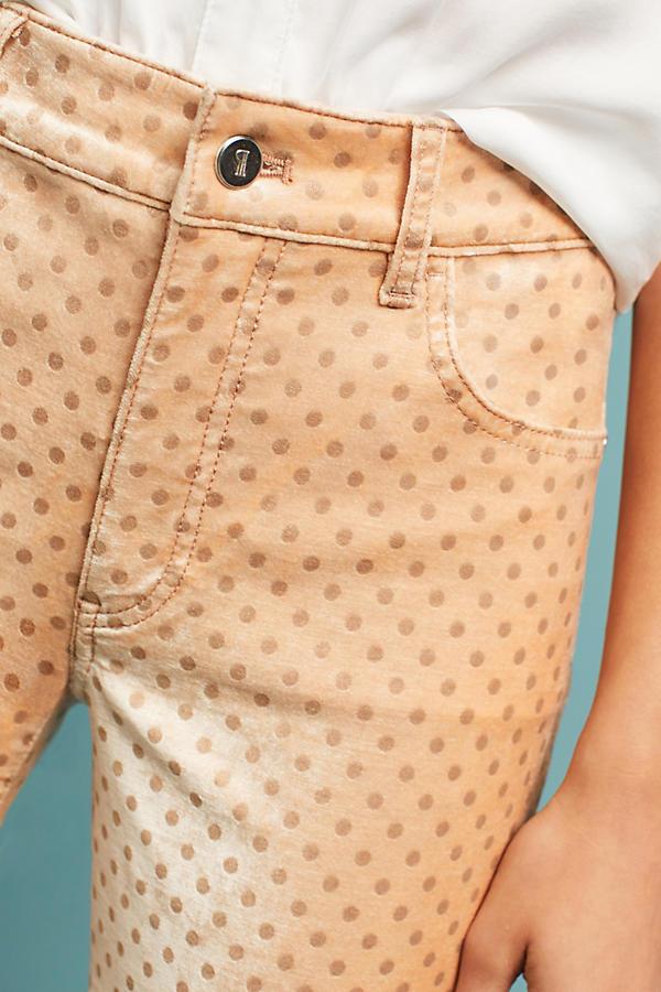 Pilcro Velvet High-Rise Skinny Ankle Jeans