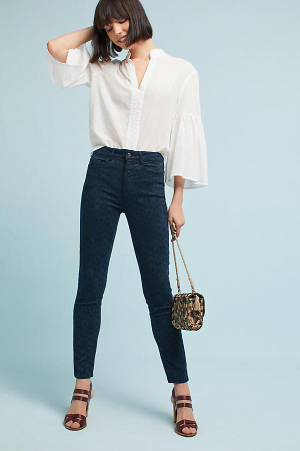 Pilcro High-Rise Skinny Jacquard Jeans