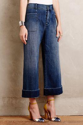 Pilcro Wide-Leg Sailor Jeans