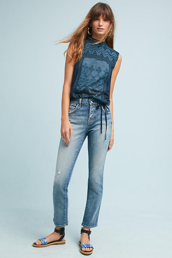 AMO Lover High-Rise Straight Ankle Jeans