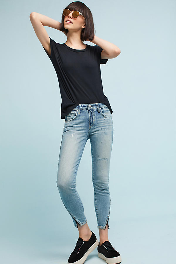 AMO Twist Mid-Rise Skinny Cropped Jeans