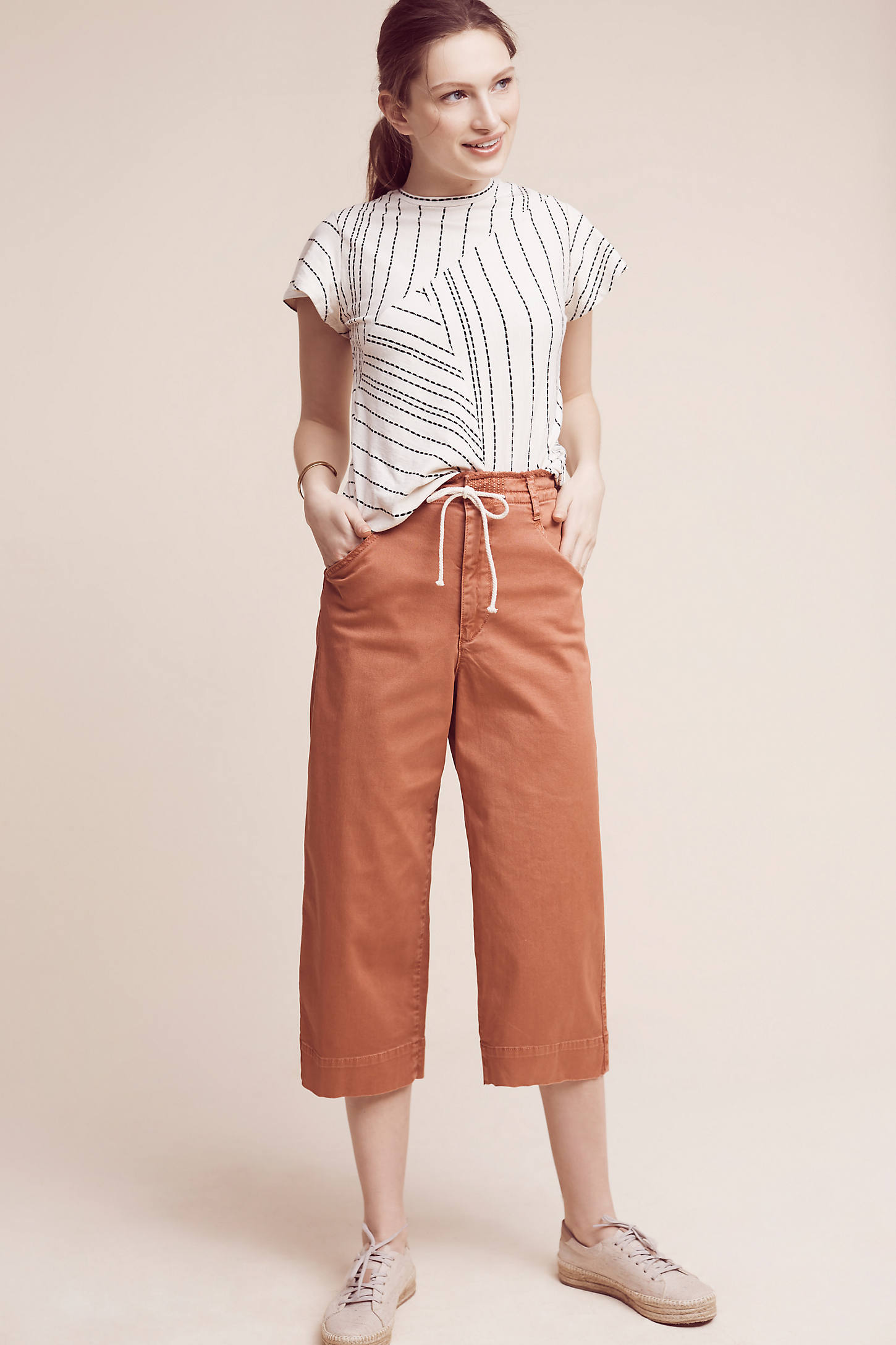 Cropped Chino Wide-Legs