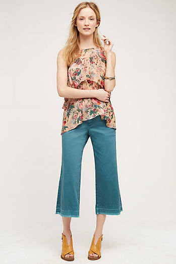 Pilcro Cropped Wide-Leg Chinos