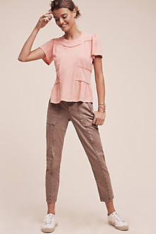Pilcro Stet Mid-Rise Cropped Chinos