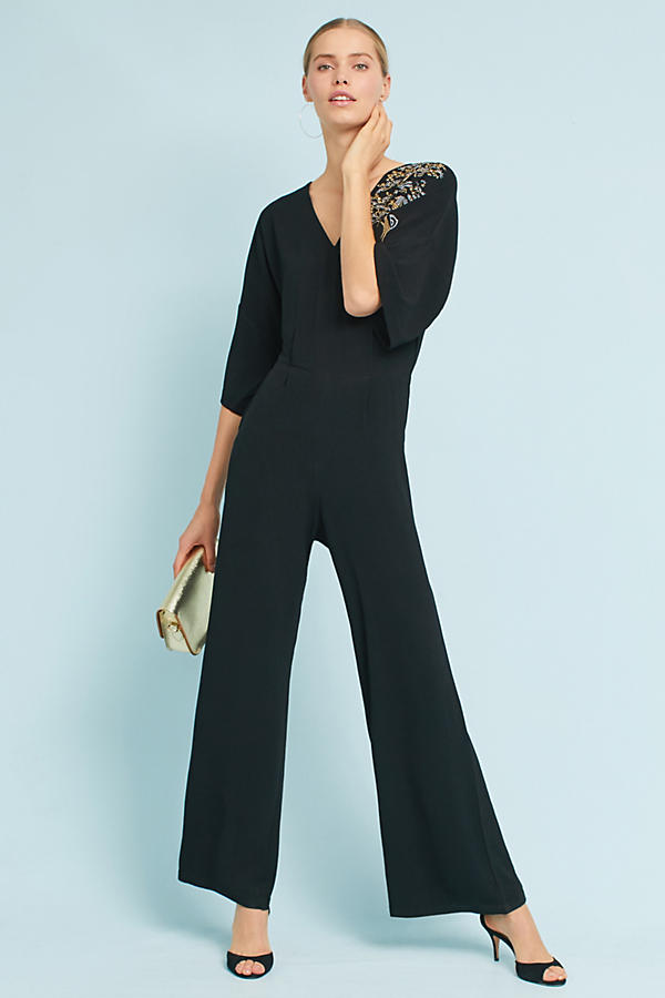 Marsh Embroidered Wide-Legged Jumpsuit