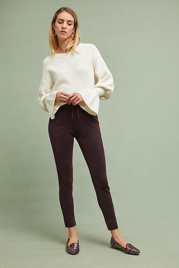 Knit Metallic Trousers
