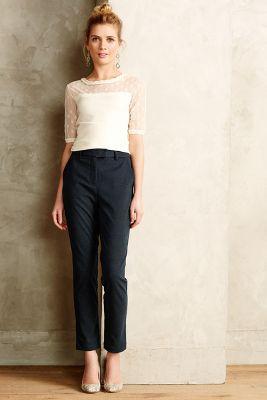 Pantalon textur� � maillons