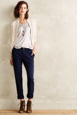 Pilcro Hyphen Pinstriped Chinos