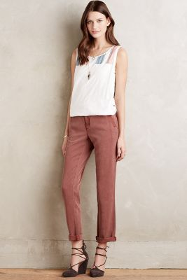Pilcro Hyphen Roll-Up Trousers