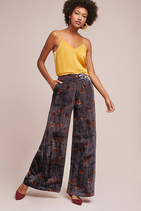 Jessie Velvet Wide-Legged Pants