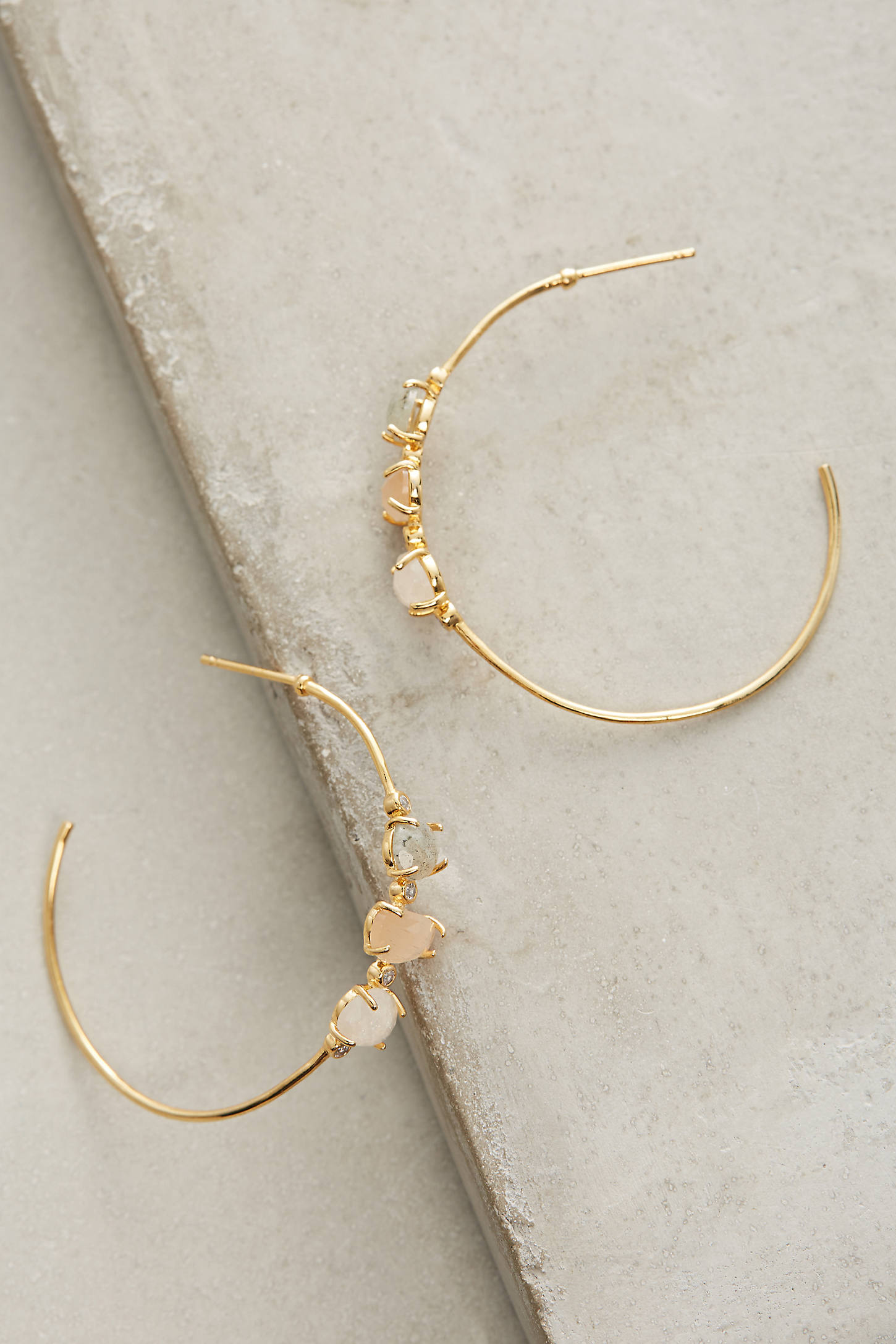 Adorned Hoop Earrings