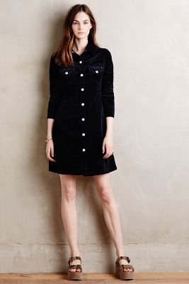 Alexa Chung for AG Pixie Cord Shirtdress