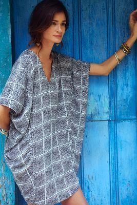 Paned Cocoon Dress