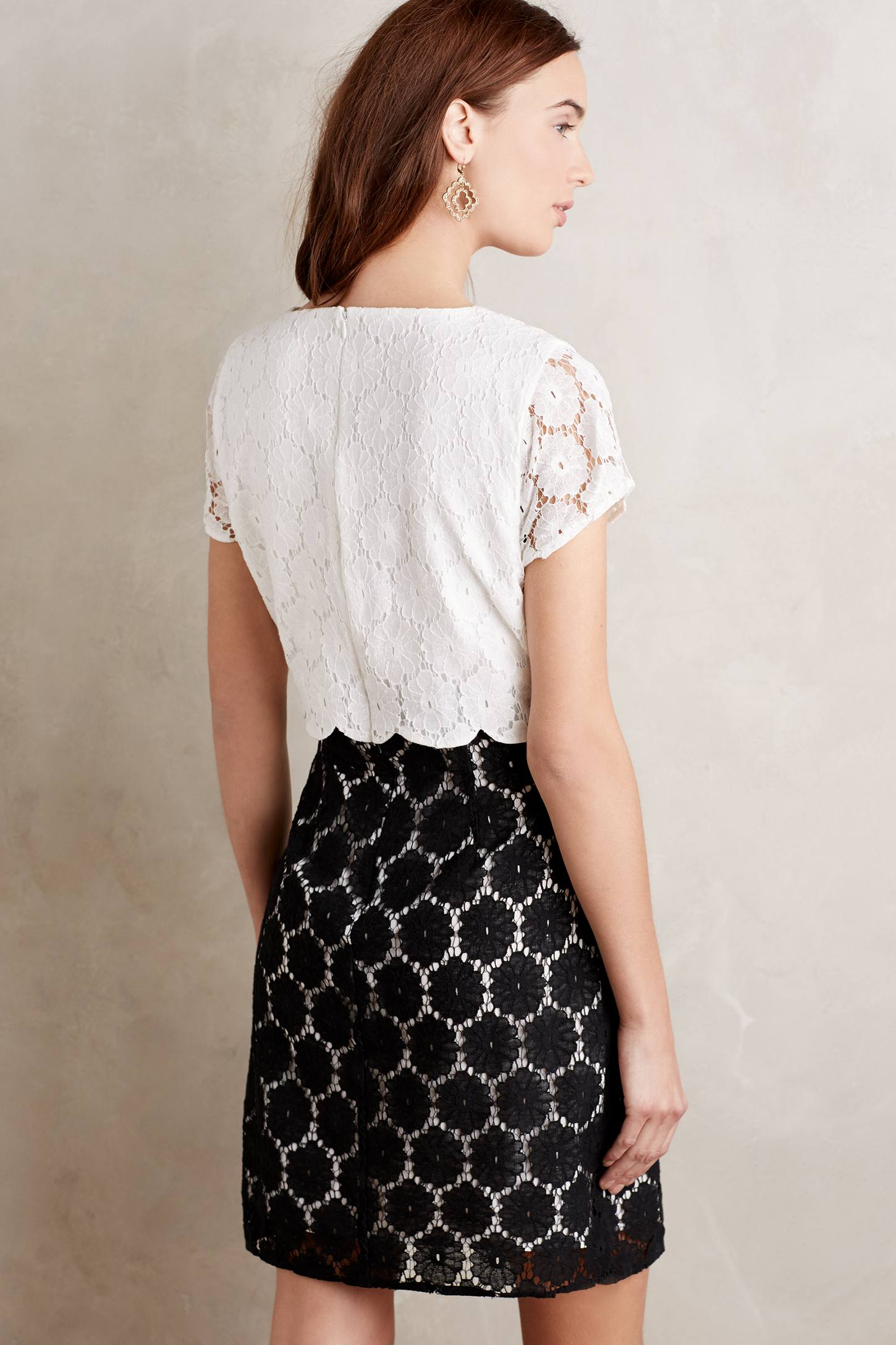Two-Tone Lace Shift