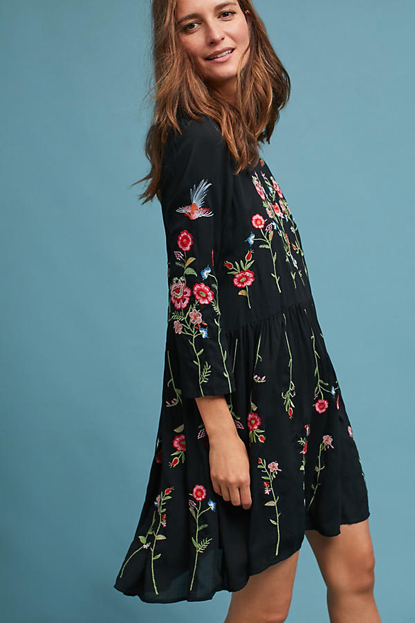 Allison Embroidered Tunic Dress