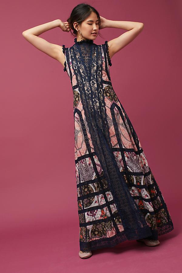 Korovilas High-Neck Maxi Dress