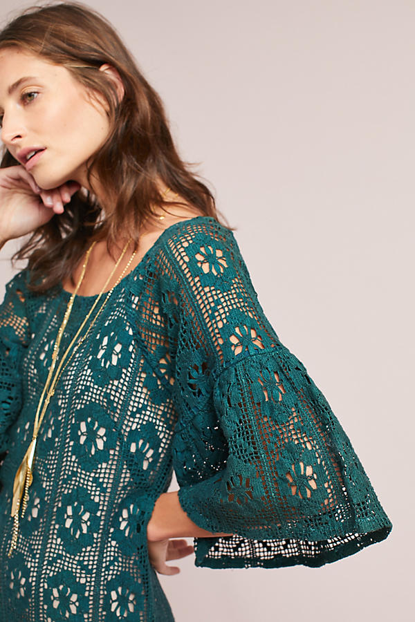 Korovilas Lace Bell-Sleeve Dress