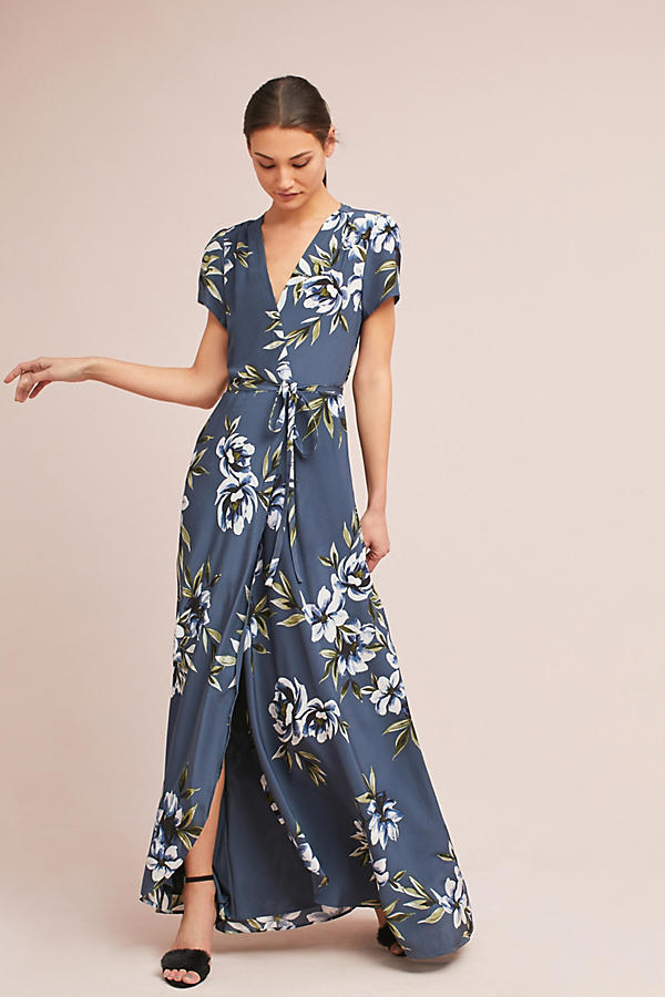 Claudia Silk Wrap Dress