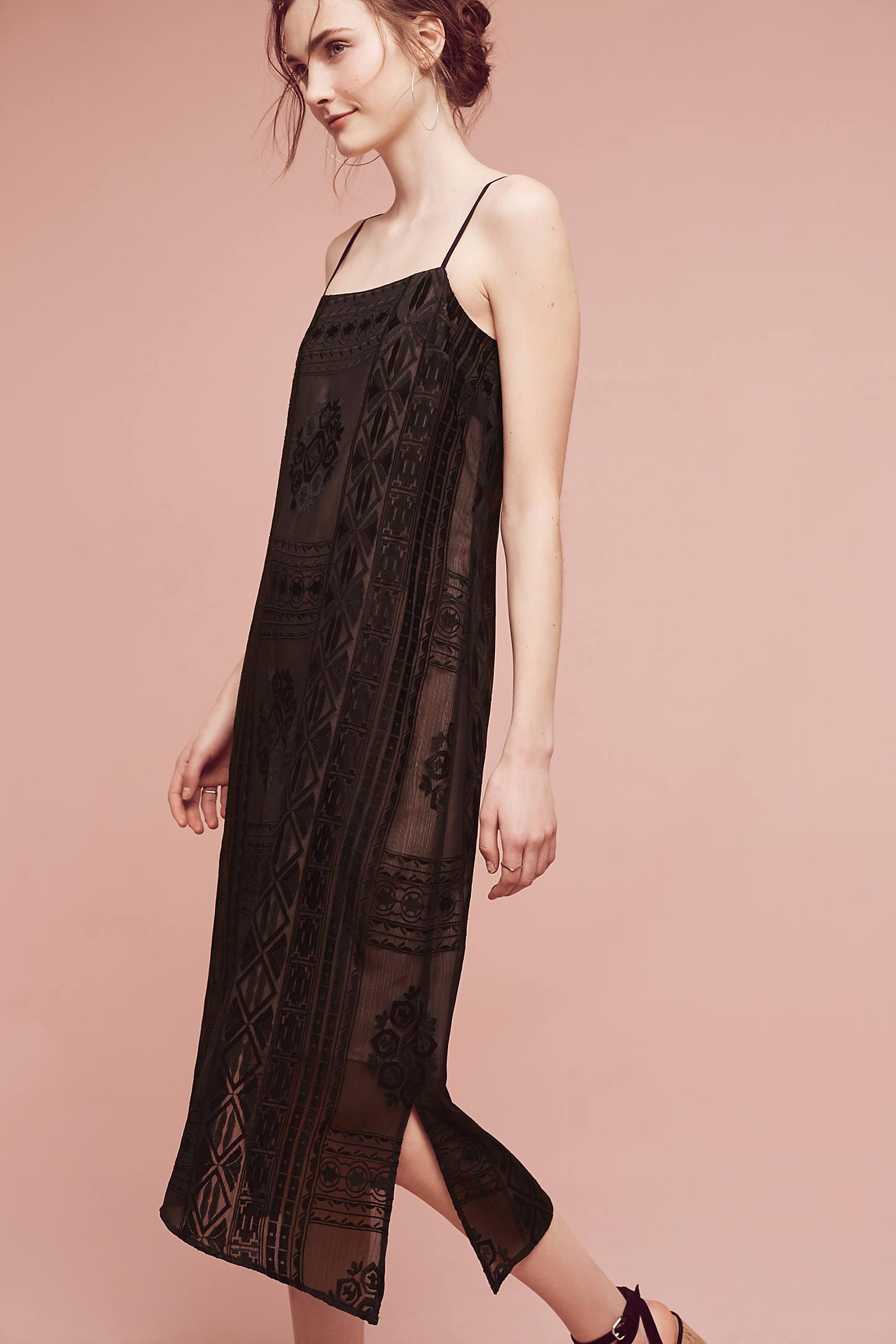 Embroidered Luna Slip Dress