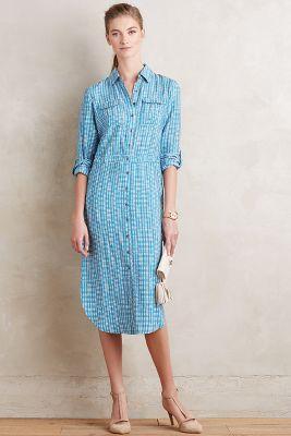 Drawstring Midi Shirtdress