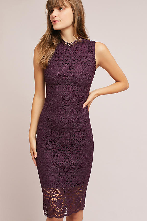 Shoshanna Layered Lace Dress