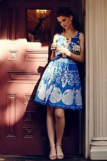 Azure Lace Dress