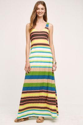 Spectrum Stripe Maxi Dress