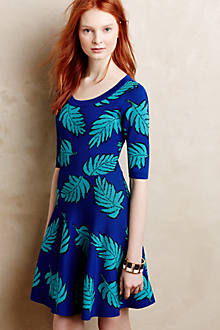 Palm Leaf Petite Sweater Dress