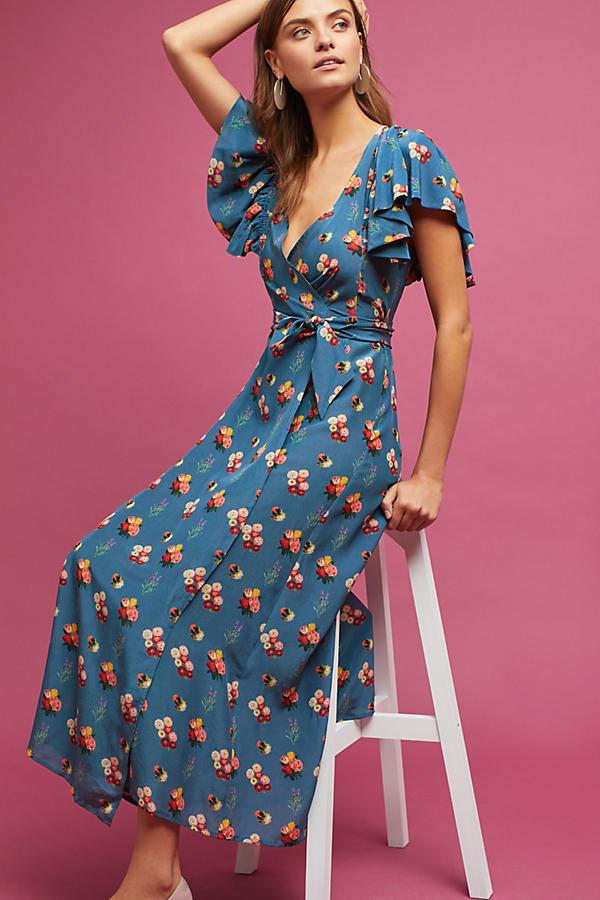 Marianne Silk Wrap Dress