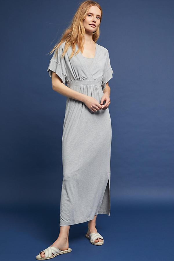 Knit Kimono Midi Dress