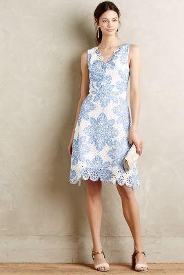 Starflower Scalloped Dress