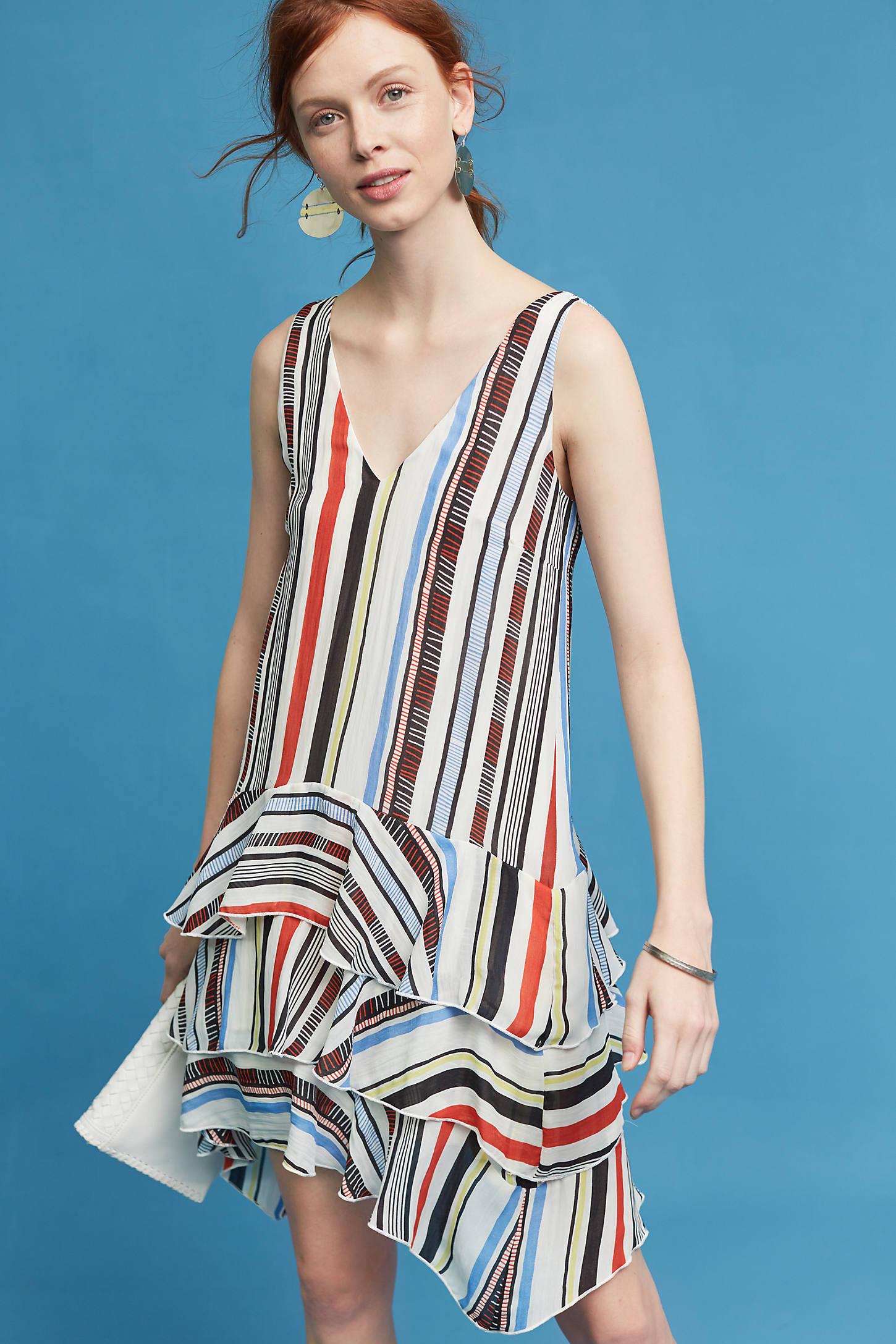 Milana Striped Dress, White