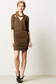 Slubby Blouson Dress
