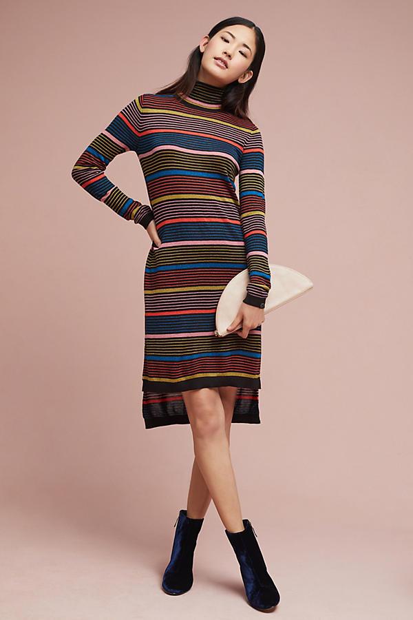 Striped Turtleneck Dress