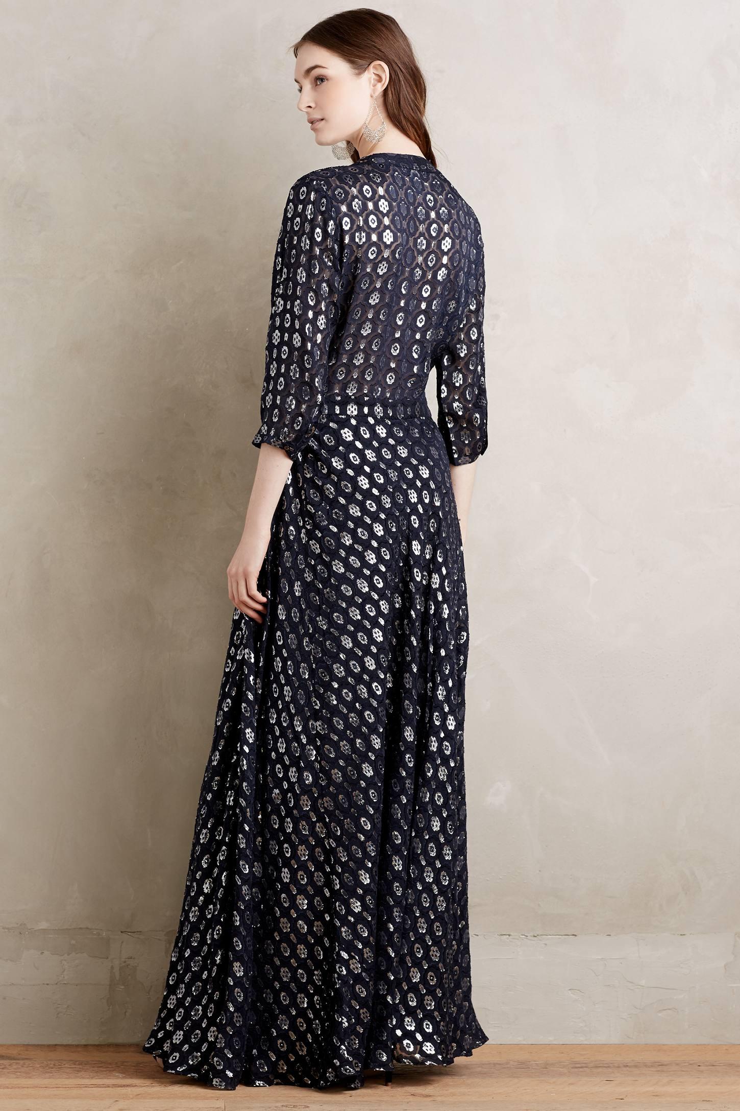 Shimmered Silk Maxi Dress