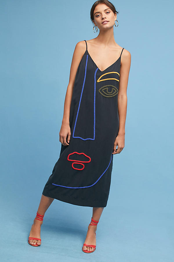 Mara Hoffman Abstract Face Slip Dress