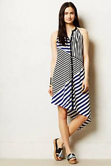 Pieced Stripe Swing Dress