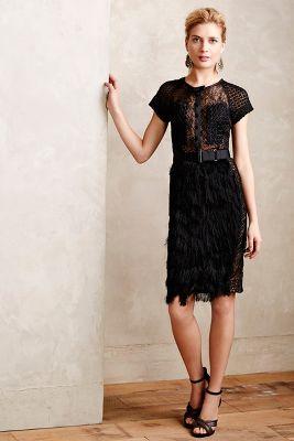 Corvus Fringe Panel Dress