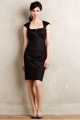 Button-Back Pencil Dress