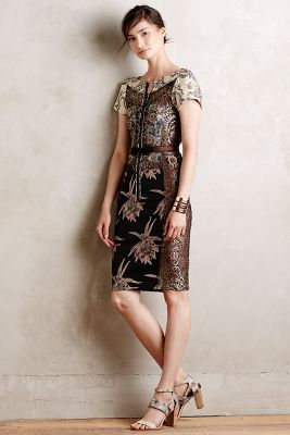 Embroidered Brocade Dress