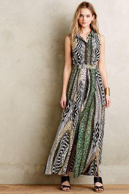 Silk Plains Maxi Dress