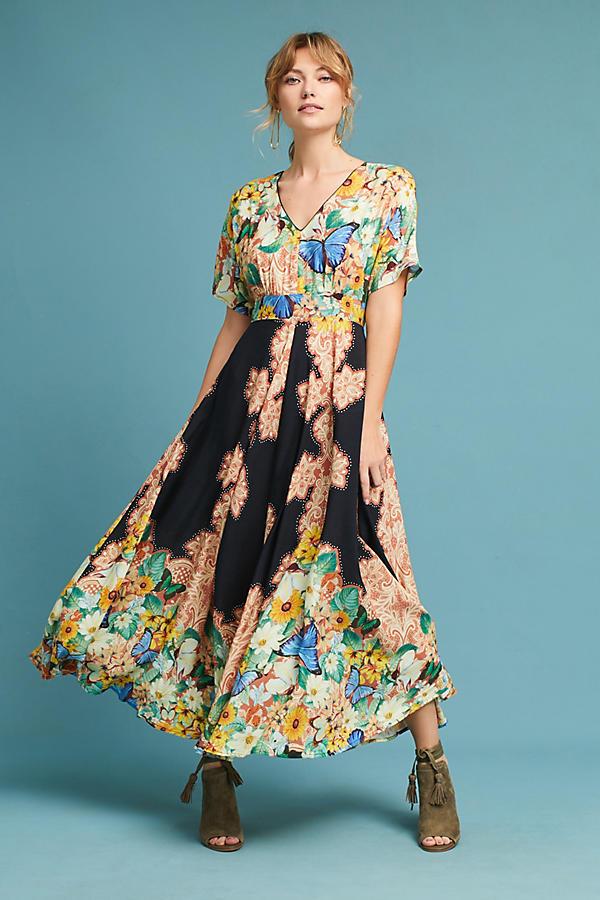 Farm Rio Butterfly Maxi Dress